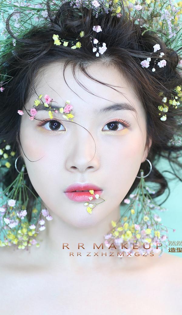2018超时尚甜心新娘妆容造型图片