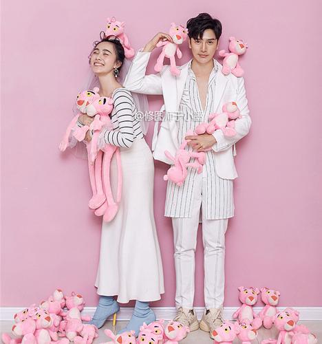 粉色木偶 婚纱照
