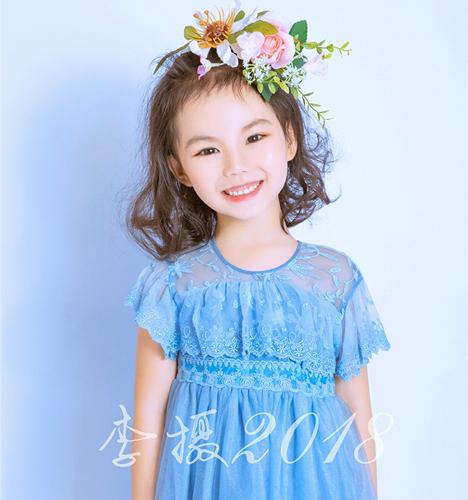 Blue dress 儿童摄影