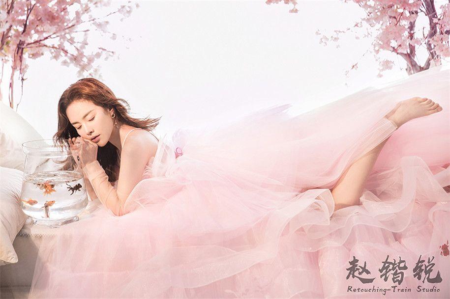 粉色系 婚纱照