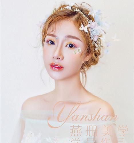 甜美小清新新娘妆 化妆造型