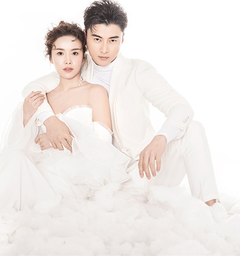 白色恋人 婚纱照