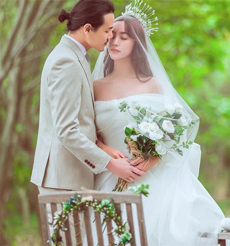 纱与树 婚纱照