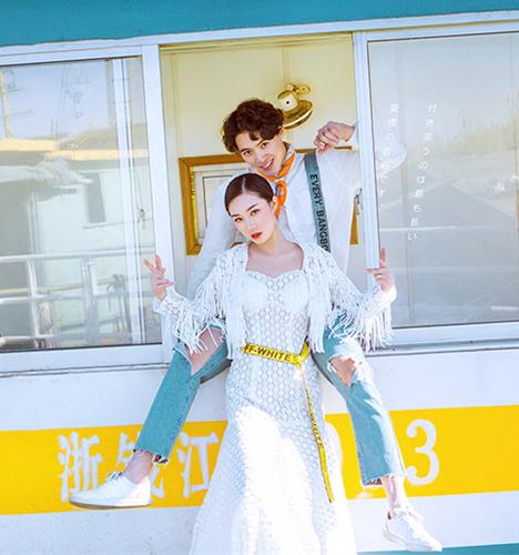 微风吹拂过的时光 婚纱照