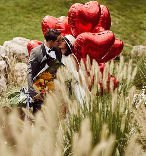 告白气球 婚纱照