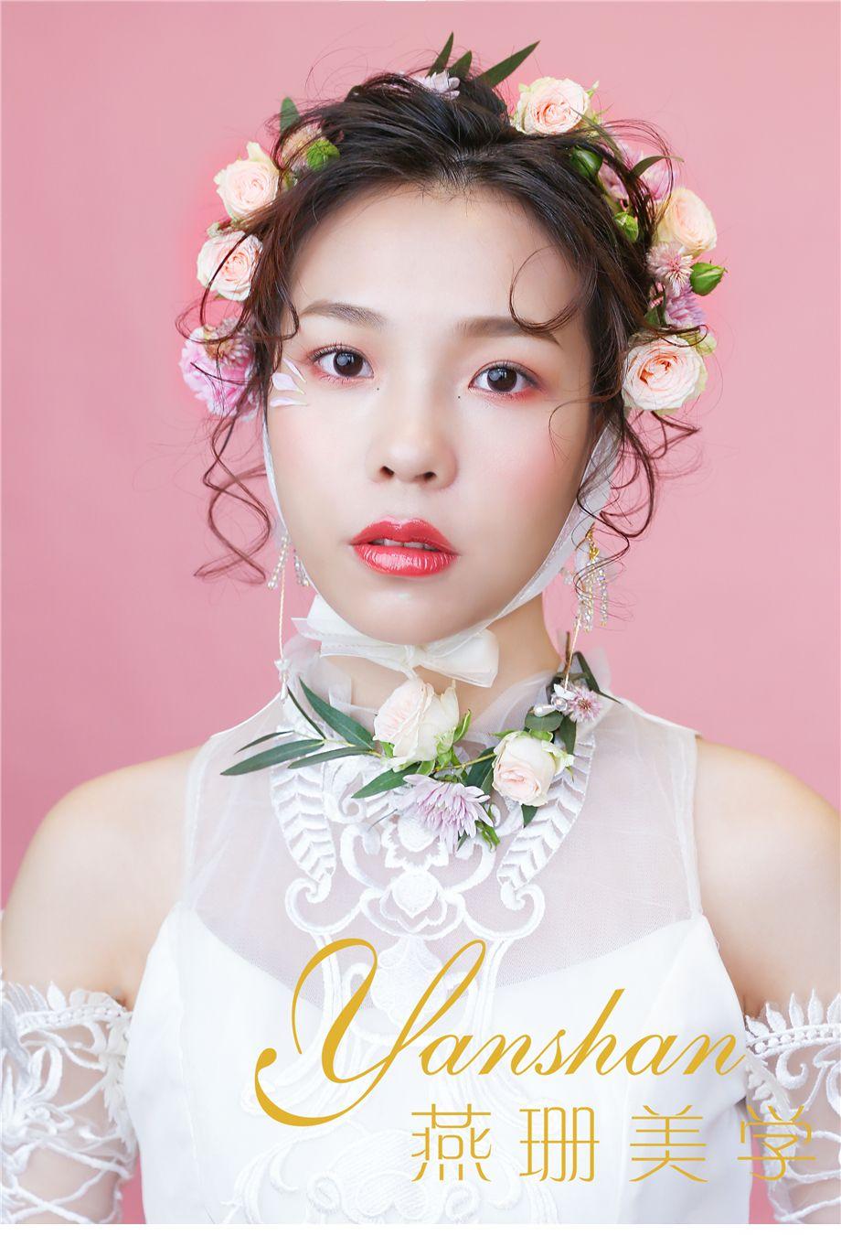 日系风鲜花新娘 化妆造型