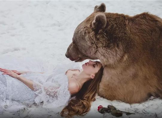 """现实生活中的""""美女与野兽"""""""