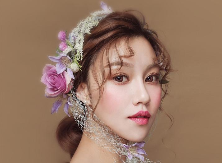 抽丝鲜花造型妆面赏析