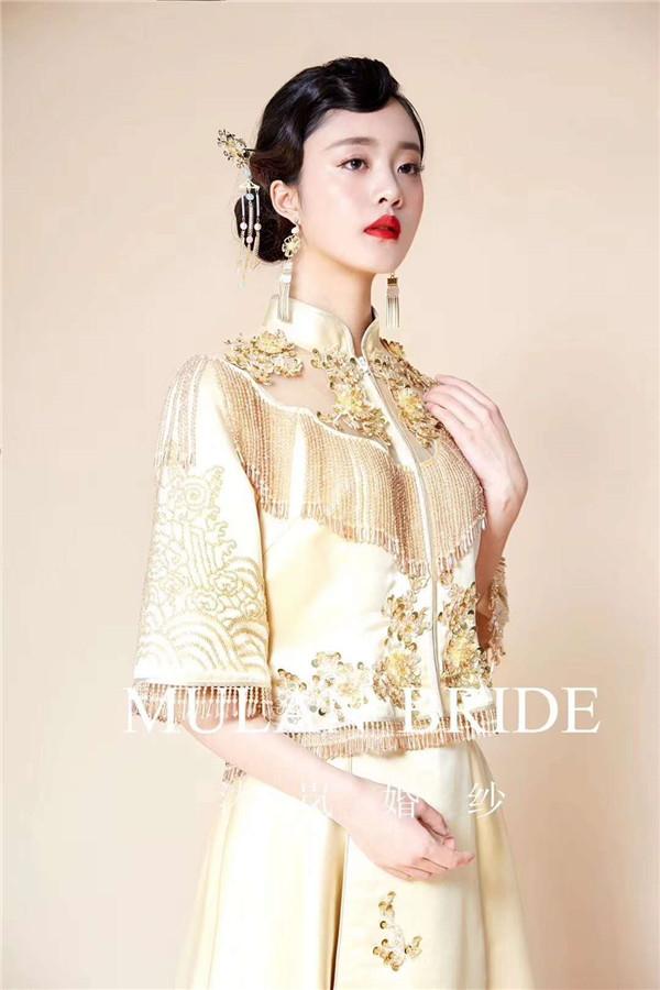 中式新娘整体造型欣赏图片