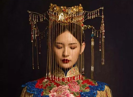 晓莉造型中式复古新娘作品