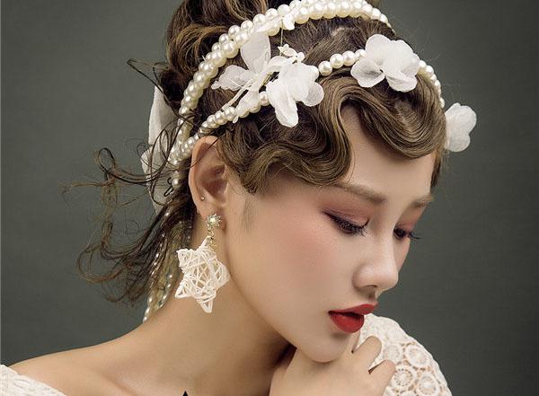 优雅复古新娘妆容赏析