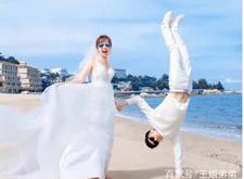 小年轻海边拍婚纱照,成片男友力爆棚让人羡慕