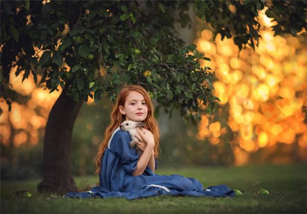 简单纯美的儿童摄影作品