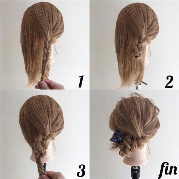 简约新娘发型步骤教程