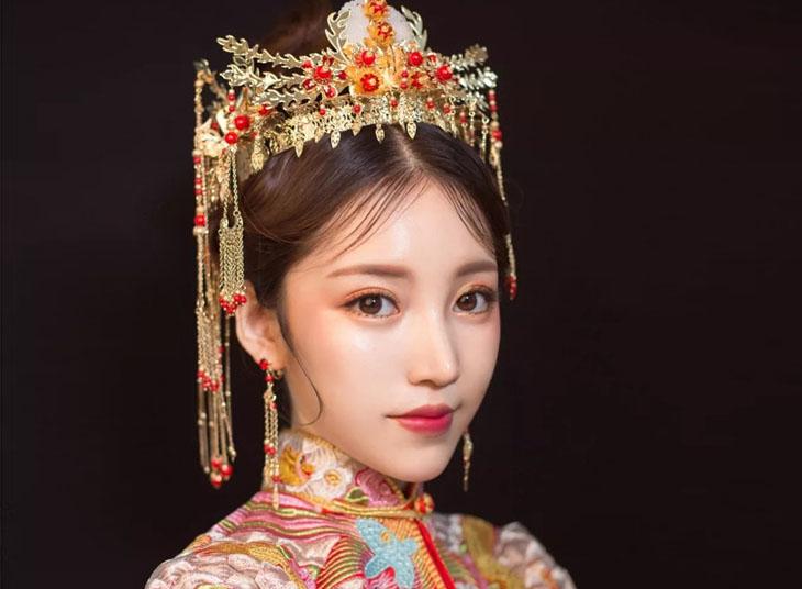 最新影楼资讯新闻-新中式秀禾新娘妆容欣赏