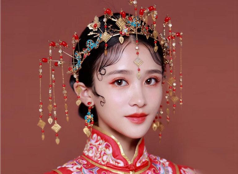 最新影楼资讯新闻-唯美红妆中式新娘造型
