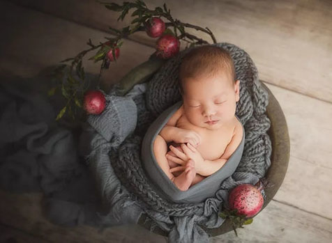 新生儿摄影的色彩搭配
