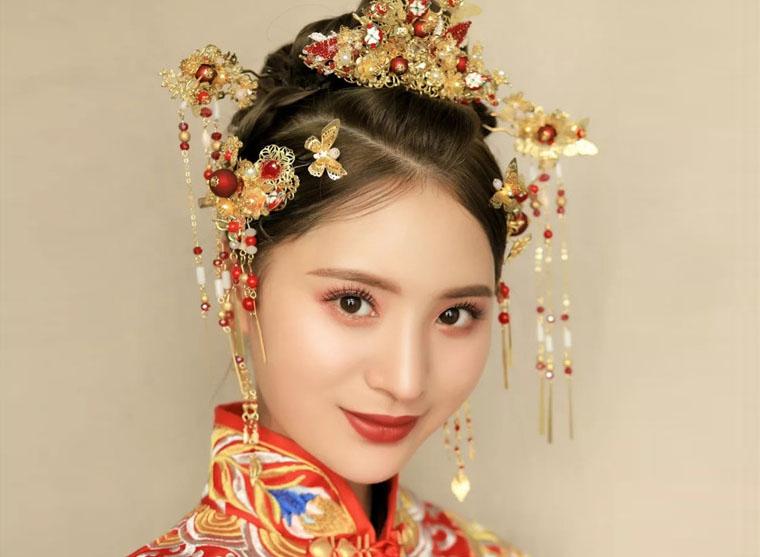纯美中式新娘,灵动俏皮