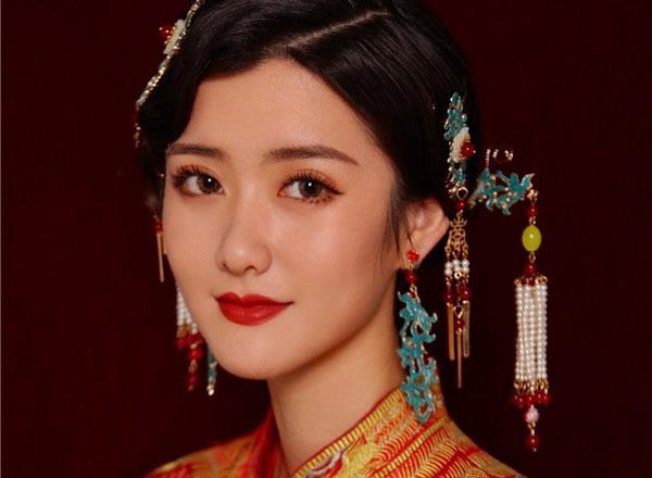 温婉优雅中式新娘造型赏析