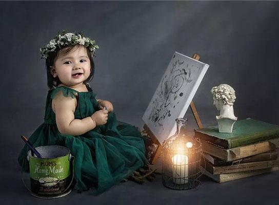 摄影教程:周岁宝宝的多样化造型与场景设计