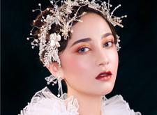 一组华丽的欧式复古新娘造型,美轮美奂