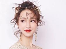 化妆教程:抽丝减龄的新娘造型,灵动而绝美!