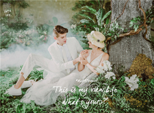 欧式婚纱样片修图欣赏:甜美温馨