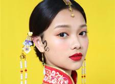 传统中式秀禾造型,尽显大家闺秀风范