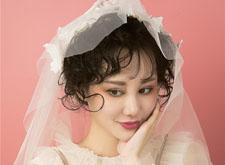 粉红少女系列短发新娘造型,卷发显娇俏
