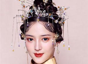 创意中式新娘造型欣赏,不一样的古装盘头