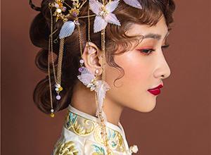高贵又不失少女心的复古中式新娘