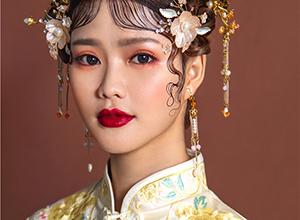 波紋劉海中式新娘造型