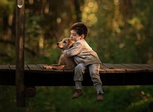 最新影楼资讯新闻-孩子与爱犬一同成长 如童话般唯美的无邪世界