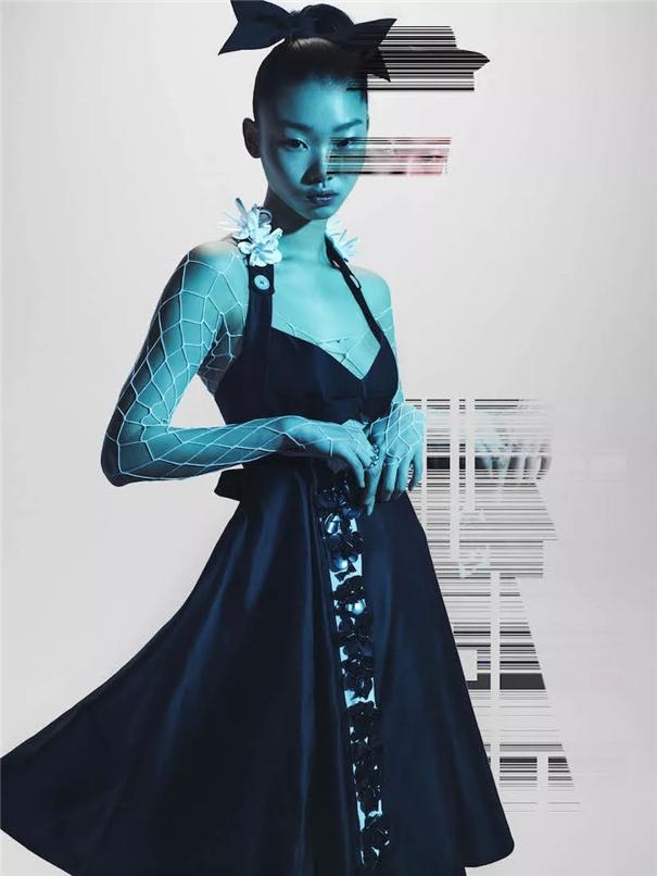 时尚的数字化处理 简明而富于动感