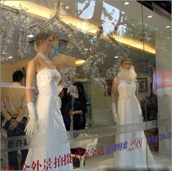 婚纱橱窗_婚纱橱窗展示