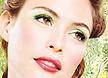 最新影楼资讯新闻-绿色眼影 粉嫩新娘