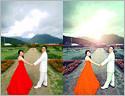 最新影楼资讯新闻-用PS打造古典的青绿色外景婚片