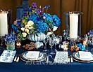 最新影楼资讯新闻-蓝色婚宴布置 装扮出浓浓复古美感