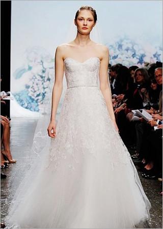 最新影楼资讯新闻-经典简洁白纱 新娘婚纱穿出时尚范儿
