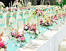 西式长桌婚宴布置 高低装饰搭配出特色气势