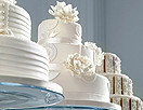 纯美冬季婚礼蛋糕 至纯雪白幻化出脱俗雅致