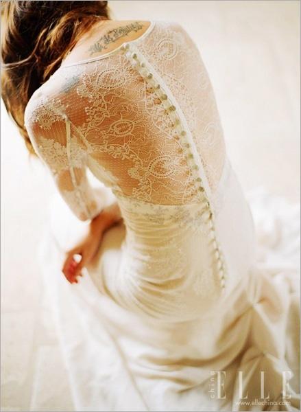 最新影楼资讯新闻-蕾丝婚纱 唯美花朵定制精致完美记忆