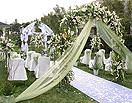 最新影楼资讯新闻-春光明媚的户外婚礼 不同风格婚礼现场营造