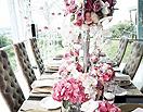 """粉红色复古婚礼布置 品味时尚婚礼""""大宴"""""""