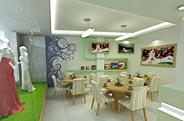 最新影楼资讯新闻-绿色生机淡绿加白色,影楼装修设计效果图展示
