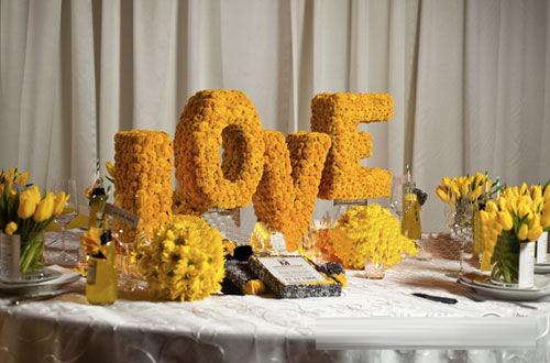 婚礼中浪漫爱的展示