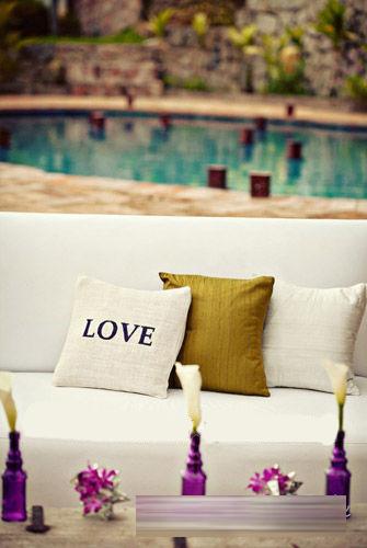 浪漫婚礼中爱的展示