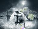 最新影楼资讯新闻-PS教程:合成雨天蹲在路灯下的孤独天使场景