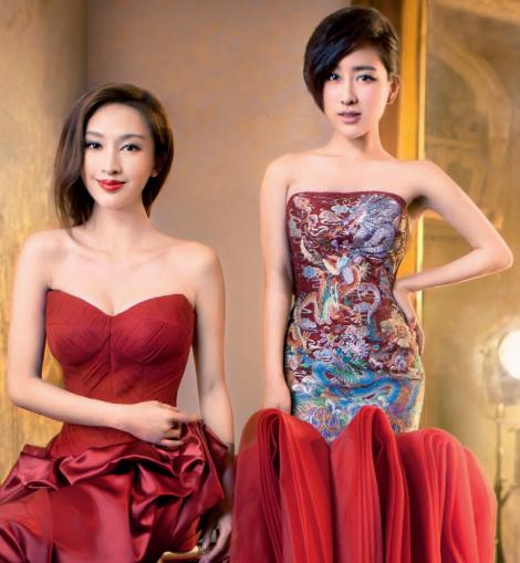 中国新娘华美婚纱礼服