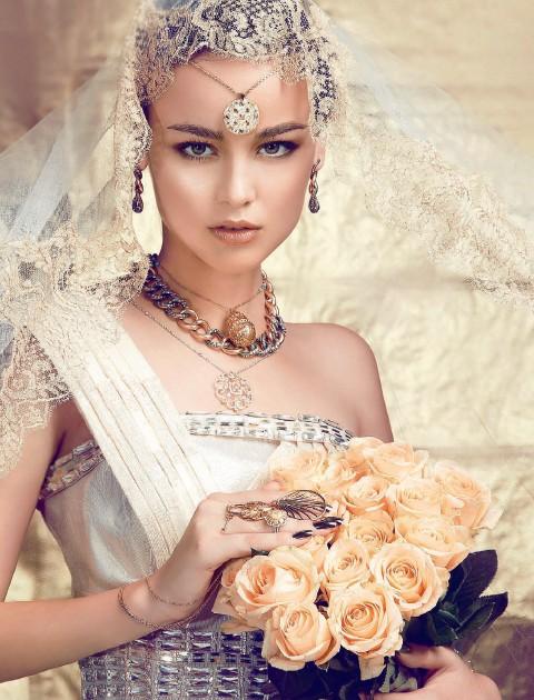 华丽闪烁的金色婚礼